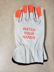 12 Pairs Watch Your Hands Pyramex Leather Driver Gloves Size Large