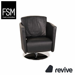 Fsm Just Leather Armchair Black Relaxfunktion Function