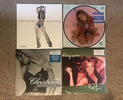Christina Aguilera Stripped Christmas Britney Spears Baby Picture Wish Vinyl Lot