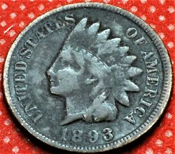1893 Us. Indian Head Penny Free Shipping Cha7