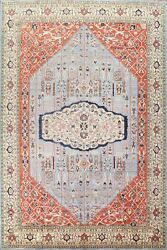 Geometric Traditional Oriental Area Rug Hand-knotted Wool Dining Room 9x12 Ft