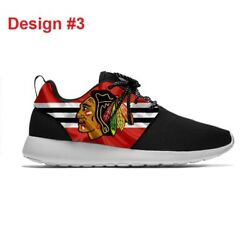 Chicago Blackhawks Lightweight Shoes Menand039s Womenand039s Sneakers Hockey Team Logo New