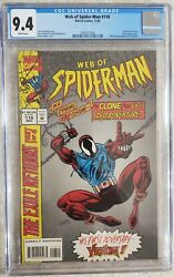 Web Of Spider Man 118 Cgc 9.4 1st Appearance Of The Scarlet Spider
