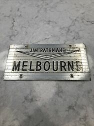 Incredible Jim Rathmann Melbourne Florida Owned License Plate Indianapolis 500