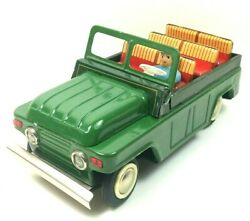 1960s Red China Mf959 Tin Toy Military Army Truck 22cm, Friction Works