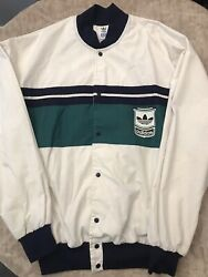 Adidas Vintage Jacket From 80andrsquos Size Large. White And Green. Very Good Condition
