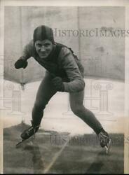 1934 Press Photo Jimmy Webster In North American Speed Skating Championship
