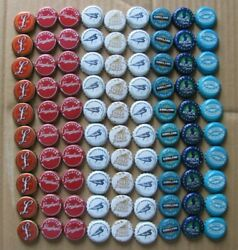 90 Red White Blue Mostly Micro Craft Beer Bottle Caps