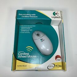 Logitech Cordless Wheel Mouse Usb And Ps/2 For Pc Mac Sealed Box Damage New Nos
