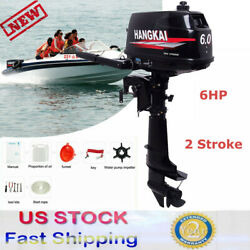 6 Hp 2stroke Outboard Motor Fishing Boat Marine Engine Water Cooling Cdi System