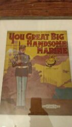 Vintage 1910s Marine Corps Usmc Wwi Colorful Sheet Music St.louis Recruiters