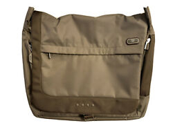 TUMI T Tech Messenger Large Crossbody Laptop Carry Bag Olive Green Brown $120.00