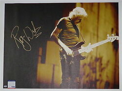 Roger Waters Pink Floyd Signed 30x40 Canvas Psa Coa S79279