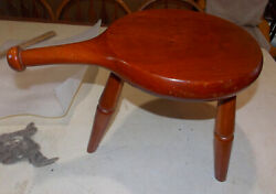 Mid Century Solid Cherry 3 Leg Milking Stool By Amana  Rp