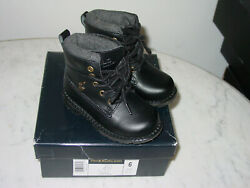 Polo 990754 Black Greylock Toddler Leather Boots Size 6c W/box
