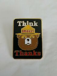 Us Forest Service Lapel Pin Think Smokey Thanks Smoky Bear Outdoor Fire Safety