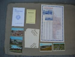 Lot Of Midland Michigan 1960s Paper Collectibles 1969 Hs Commencement Postcards