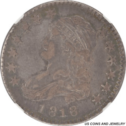 1818 Capped Bust Quarter Browning-8 Ngc Xf-40