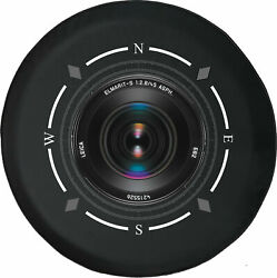 Spare Tire Cover Compass Camera Zoom Lens Photography Fits Jeep Many Vehicles