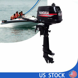 New Hangkai 6hp 2stroke Outboard Motor Marine Engine Water-cooled Cdi System Us