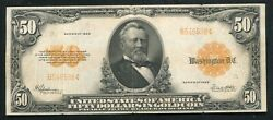 Fr. 1200a 1922 50 Fifty Dollars Gold Certificate Currency Note Very Fine+
