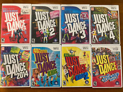 8 Game Lot Just Dance 1 2 3 4 2014 Kids 1 2 And Disney Party Nintendo Wii Bundle