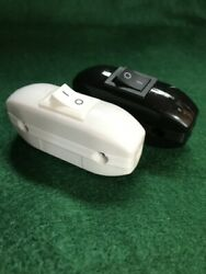 2 On/off Lamp Light In Line Cord Rocker Toggle Power Switch 3-core Cable 250v