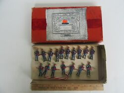 Antique Fabrique French Lead Toy Soldiers, Imperial Charging Japanese, W/ Box