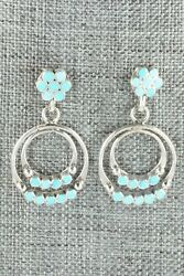 Turquoise And Sterling Silver Earrings - Michelle Peina