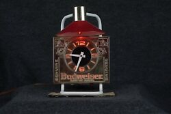 Vintage Budweiser Beer Bar Light / Clock | 80andrsquos | Works Great