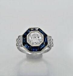 Iron Man Reactor With Art Deco Blend Hybrid Diamond Sterling Silver Ring+gift