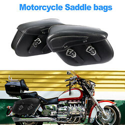 Motorcycle Pu Leather Side Saddle Bags Large Size For Kawasaki Zx 14 Zx14 Us