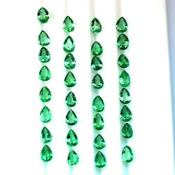 11.99cts 6x4mm Top Luster Green Natural Zambia Emerald Loose Gemstone