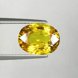 4.3cts Top Luster First Quality Natural Yellow Sapphire Loose Gemstone