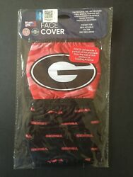 Georgia Bulldogs Officially Licensed 2 Pk Adult Face Mask Qty Discounts FREE Samp;H