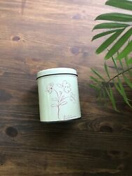 Vintage Pablo Picasso Tin Can White Cream Red Flowers Art Mid Century