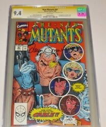 New Mutants 87 Cgc 9.4 Double Signed By Rob Liefeld And Louise Simonson
