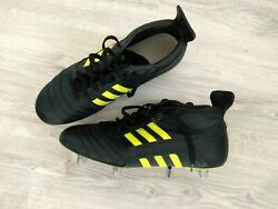 Adidas V.6 Black/yellow Soccer Cleats Beckenbauer Vintage Rugby Football 1990s
