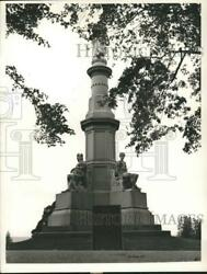 1963 Press Photo Soldiers National Monument In Gettysburg, Pennsylvania