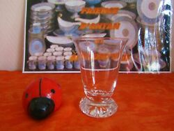 Glass To Wine White Crystal Of Daum Signed Model Kim 3 Available