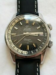 Enicar Sherpa Jet 33 Mk 1 Black Dial Automatic - Fully Overhauled