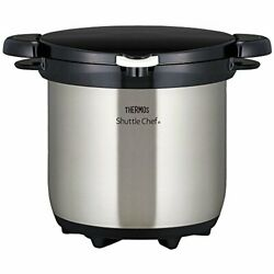Thermos Vacuum Insulation Cooker Shuttle Chef 4.5l Clear Stainless Kbg-4500 Cs