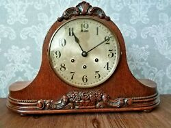 Beautiful Antique Westminster Chime Mantel Mantle Clock.