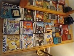 Massive Gameboy Color Gba Pokemon W/yellow Crystal + Cib Original Owner Must See