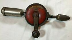 Vintage Millers Falls Hand Drill No 6550 With 7 Bit Usa Hydraulic Alemite Unique