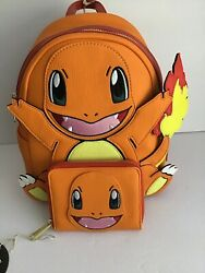 Loungefly Pokemon Charmander Figural Backpack And Wallet Set Nwt