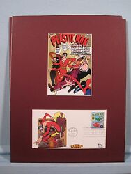 Dc Comic Book Hero Plastic Man And First Day Cover