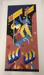 Robert Guthrie 1993 New Orleans Mardi Gras Limited Edition Numbered Poster