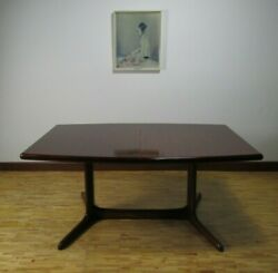 Mid Century Modern Dyrlund Danish Rosewood Extending Dining Table 2 Leaves
