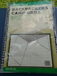 Folding Camping Cooking Grill Hiking Backpacking Gear Sport Outdoor Chrome St... $14.99